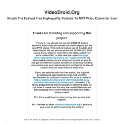 VideoDroid.Org - Fastest Free High-quality Youtube To MP3 Online Video Converter