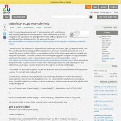 videofacerec.py example help