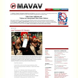 MAVAV | Mothers Against Videogame Addiction and Violence