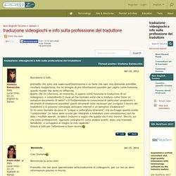 traduzione videogiochi e info sulla professione del traduttore (Italian)