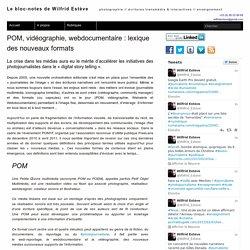 POM, vidéographie, webdocumentaire : lexique des nouveaux formats – Le bloc-notes de Wilfrid Estève