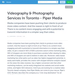 Videography & Photography Services In Toronto - Piper Media