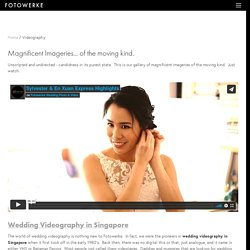 Avail the Best Wedding Videography Singapore