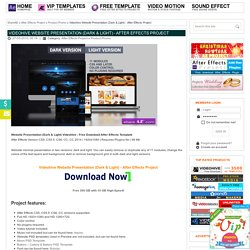 Videohive Website Presentation (Dark & Light)