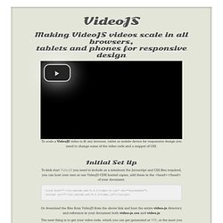 VideoJS setup guide to scale for responsive design on all browsers & mobile