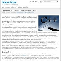 Guía aprender programar videojuegos con C++