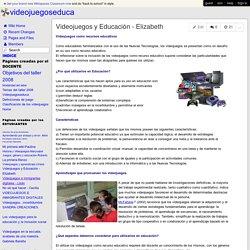 videojuegoseduca - Videojuegos y Educación - Elizabeth