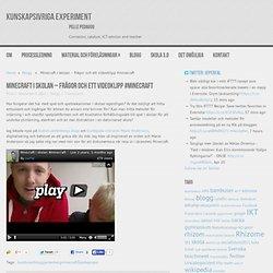 Minecraft i skolan - frågor och ett videoklipp #minecraft