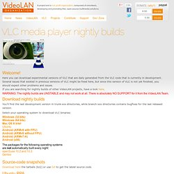 VideoLAN, VLC media player continuous nightly builds - Pale Moon