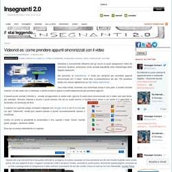 Videonot.es: come prendere appunti sincronizzati con il video