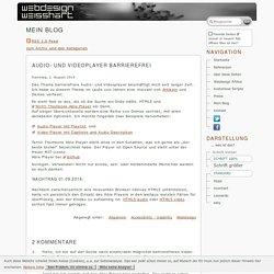Audio- und Videoplayer barrierefrei - Blog von webdesign.weisshart.de