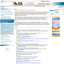 Vidéoprojecteur et tableau interactif - Portail premier degré