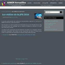Les vidéos de la JPA 2014 - ADBEN Versailles
