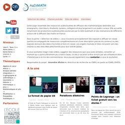 Vidéos - AuDiMath