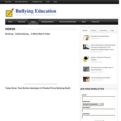 Videos | Bullying Education