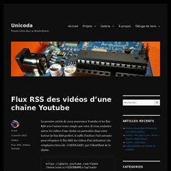Flux RSS des vidéos d'une chaîne Youtube – Unicoda