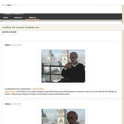 Videos de Alain Connes