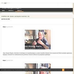 Videos de Jean-Jacques Kupiec