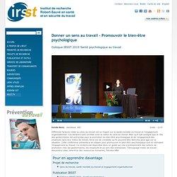 Vidéos disponibles à l'IRSST