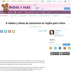 6 vídeos y letras de canciones en inglés para niños