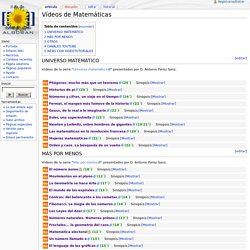 Vídeos de Matemáticas - Wikipedia