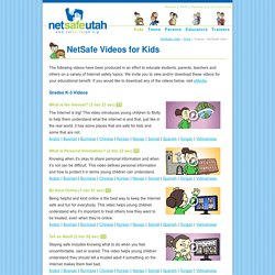 Videos - NetSafe Utah