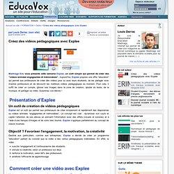 Créez des vidéos pédagogiques avec Explee