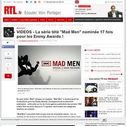"""VIDEOS - La série tété """"Mad Men"""" nominée 17 fois pour les Emmy Awards !"""