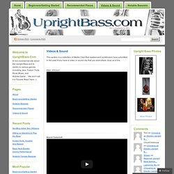 Videos & Sound « The Upright Bass Site – We don't call it a double bass ;-)