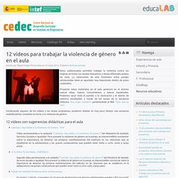 12 vídeos para trabajar la violencia de género en el aula