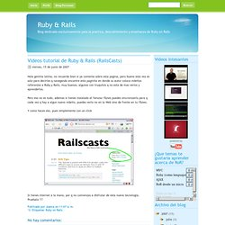 Videos tutorial de Ruby & Rails (RailsCasts)