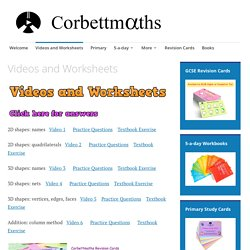 Videos and Worksheets