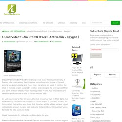 Ulead Videostudio Pro x8 Crack [ Activation + Keygen ]