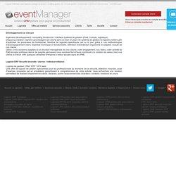 Développement sur mesure - Logiciel ERP Sécurité incendie / alarme / vidéosurveillance