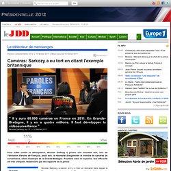 Vidéosurveillance: L'exemple britannique ne sert pas Nicolas Sarkozy
