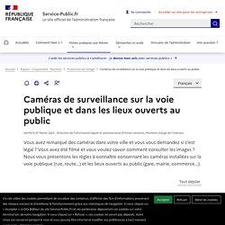 Vidéosurveillance de la voie publique et des lieux ouverts au public