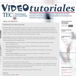 Videotutoriales: Definición de video tutorial