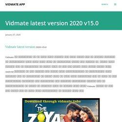 Vidmate latest version 2020 v15.0