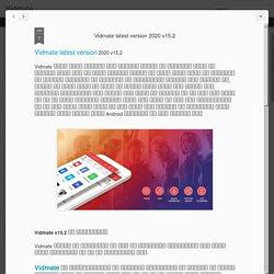 Vidmate: Vidmate latest version 2020 v15.2
