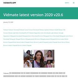 Vidmate latest version 2020 v20.6