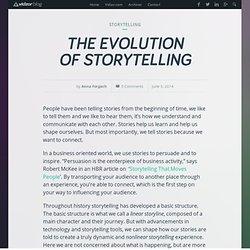 Blog - The Evolution of Storytelling