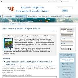 Créer une BD :Vie collective et respect de règles, EMC 6e