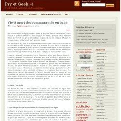Vie et mort des communautés en ligne
