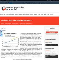 La vie en solo : vers une stabilisation ?