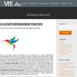 Les atouts référencement pour 2015