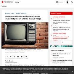 Une vieille télévision à l'origine de pannes d'Internet pendant 18mois dans un village