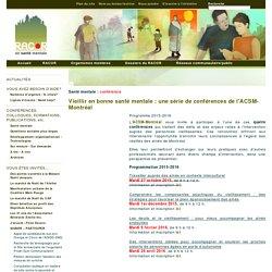 Vieillir en bonne santé mentale : une série de conférences de l'ACSM-Montréal