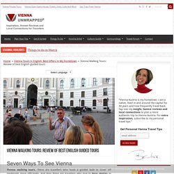 Vienna Walking Tours: Review of best English guided tours