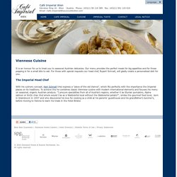 Viennese Cuisine at Cafe Imperial Vienna