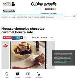 Mousse viennoise chocolat-caramel beurre salé, facile et pas cher